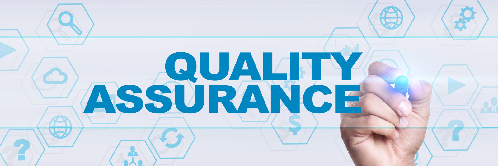 the word quality assurance in text